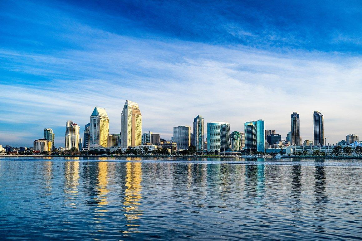 San Diego California Skyline High Quality Architecture Stock Photos Creative Market