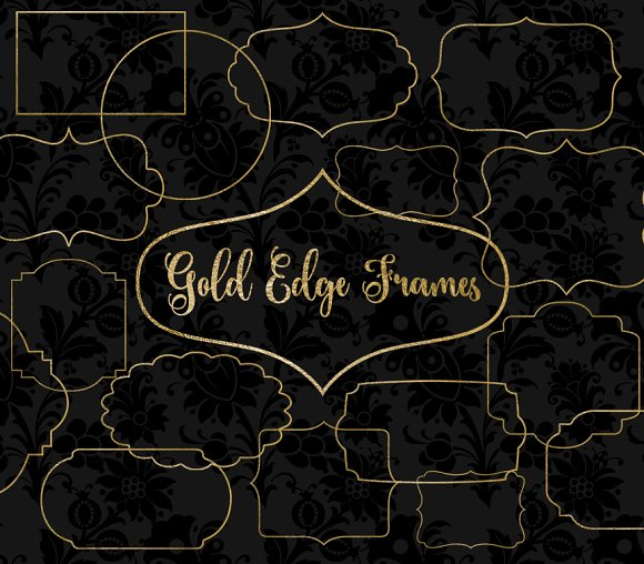 Gold Edge Frames Clipart