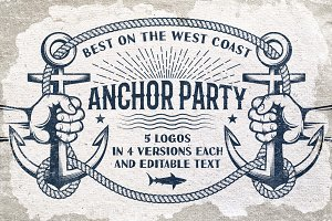 Anchor nautical logos