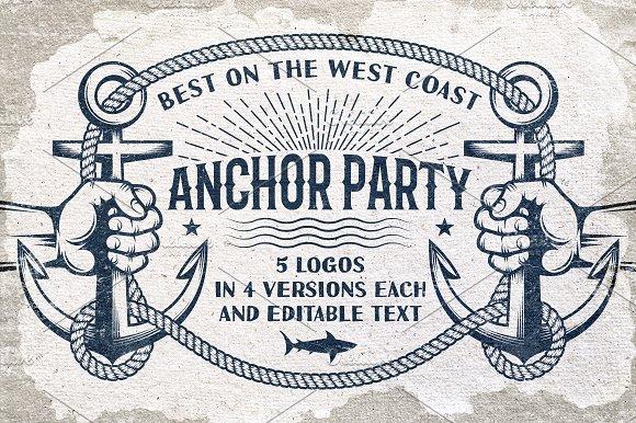 Anchor Nautical Logos