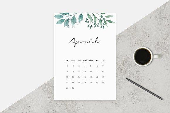 2017-2018 Watercolor Calendar