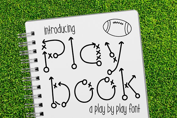 Play Book A Play By Play Font