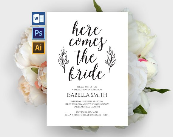 Bridal Shower Invitation Wpc307