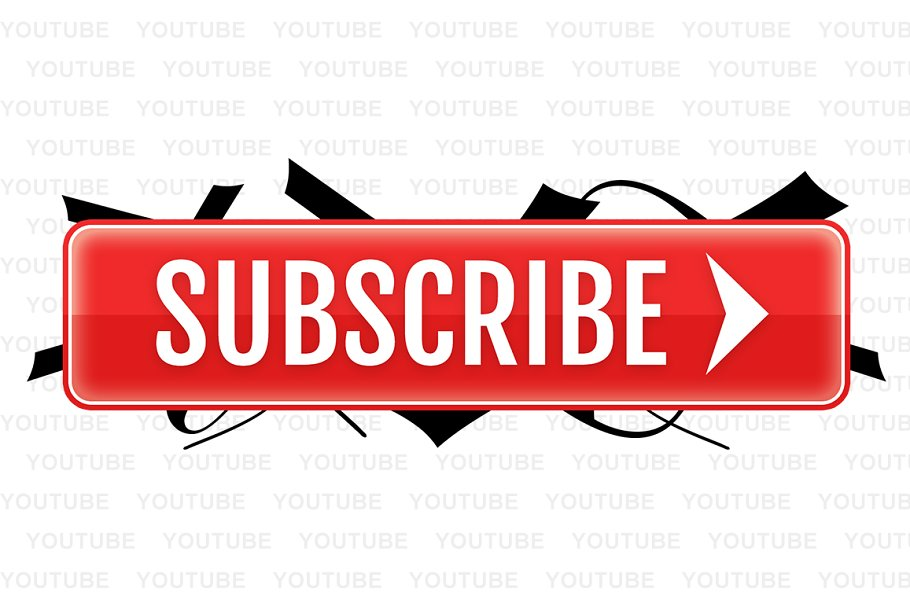 EPIC YouTube Subscribe Button ~ Web Elements ~ Creative Market