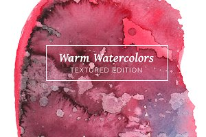 Warm Textured Watercolors