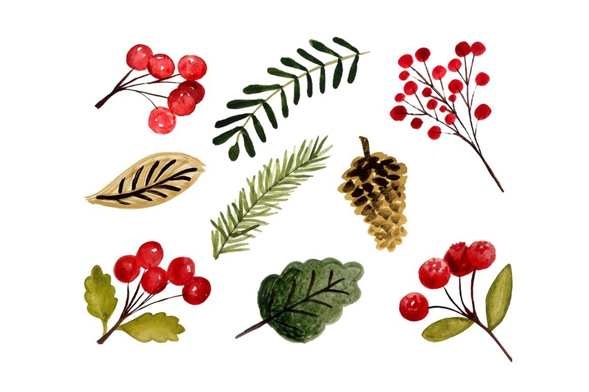 christmas foliage graphics creative market