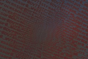 Diagonal dark red computer text texture background