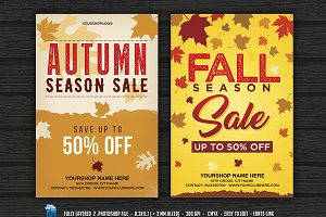 Fall Autumn Sale Flyer  Poster