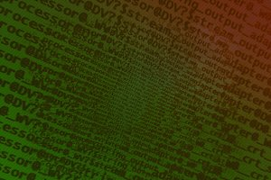 Diagonal dark green red computer text texture background