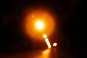 Highway warm lights bokeh background