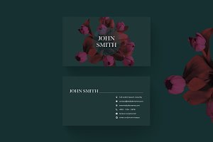 Elegant Floral Business Cards