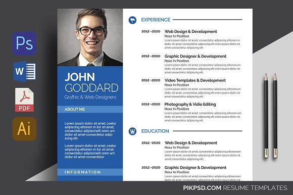 Resume Template 2 Pages