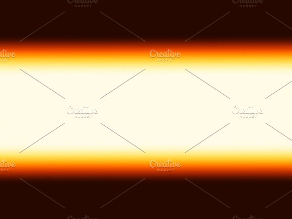 Horizontal Orange Horizon Bokeh Background