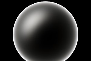 Horizontal black and white planet illustration background