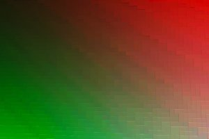 Diagonal red and green 3d blocks texture background
