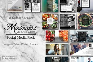 Black & White Social Media Pack