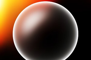 Glowing planet sphere with light leak illustration background