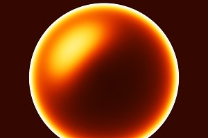 Glowing sun sphere illustration background