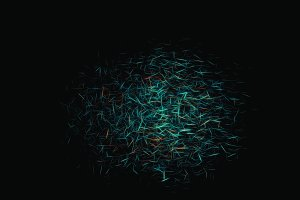 Science particles illustration background