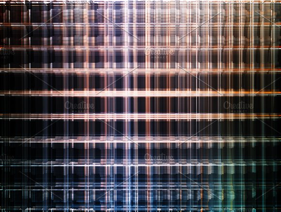 Horizontal Room Cells Illustration Background