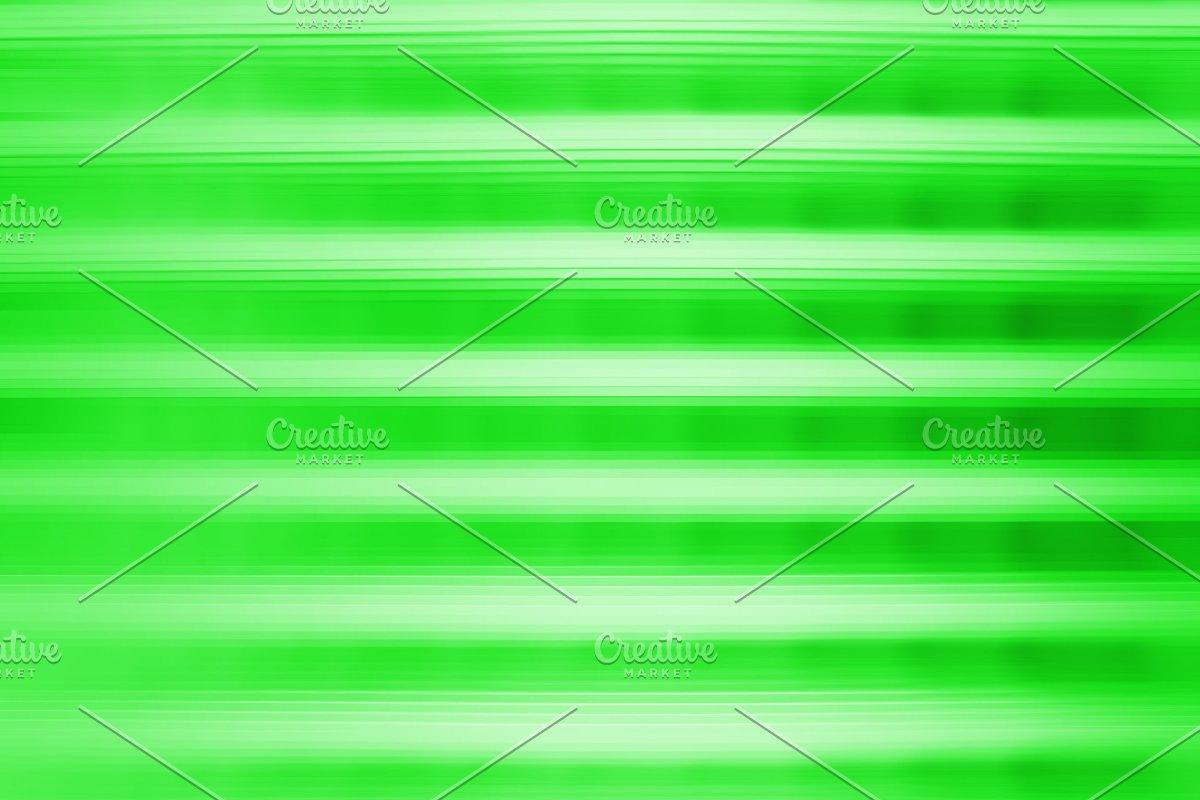Horizontal green motion blur bokeh background