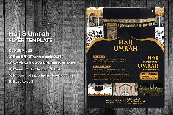 hajj umrah flyer template flyer templates creative market
