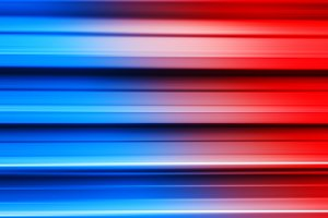 Red and blue metal bars motion blur background