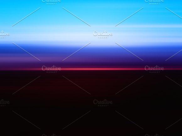 Horizontal Sunrise Landscape Motion Blur Background