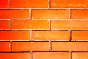 Red brick wall textured background