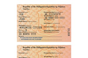 Philippines passport visa stamp
