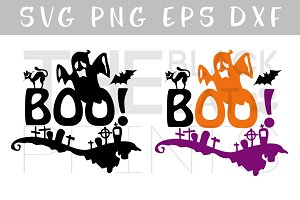 Boo! SVG Halloween SVG DXF EPS PNG