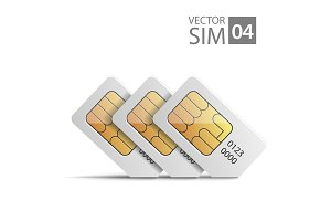 vector SIM cards chip