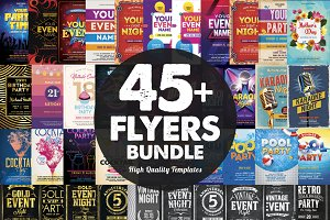 45+ Flyers Bundle