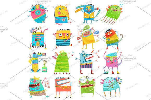 Cartoon Monsters For Kids Collection