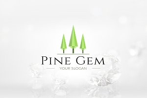 Pine Tree Gem Logo