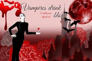 Vampire girl clipart