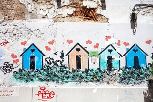 Street art graffiti Cascais Portugal