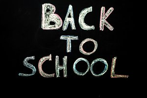 chalk inscription back to school