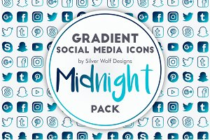 Social Media Icons | Midnight Pack