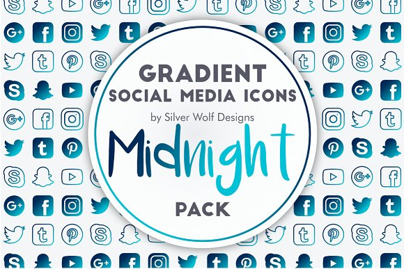 Social Media Icons Midnight Pack