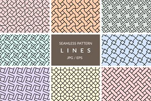 Seamless line pattern vectors