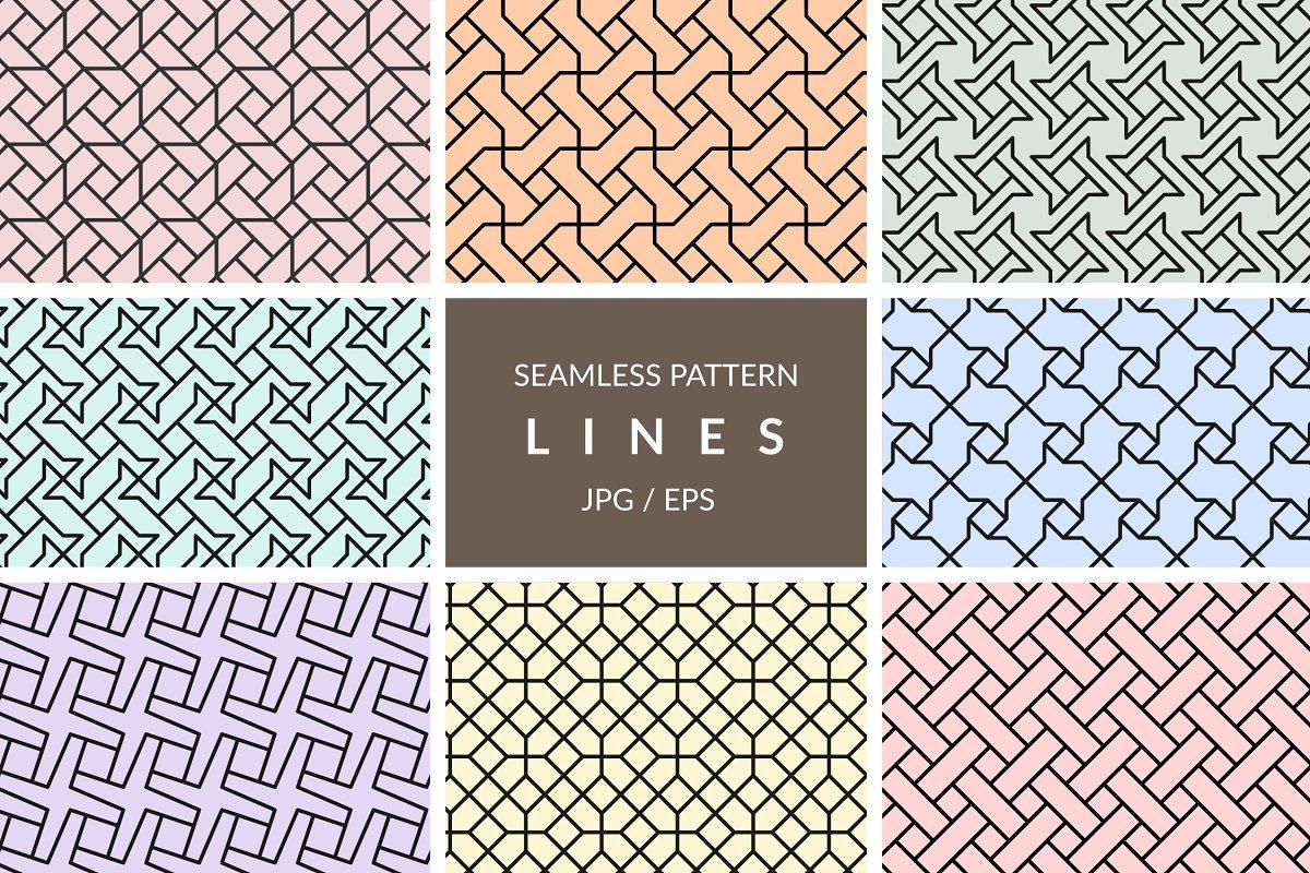 Seamless line pattern vectors