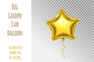 Golden Star Balloon