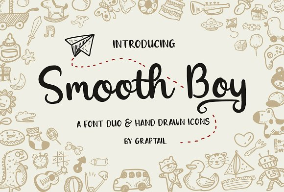 Smooth Boy Fonts Icons