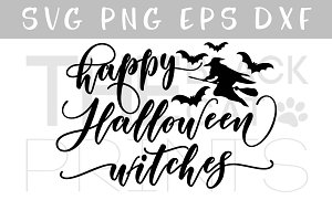 Happy Halloween witches SVG DXF PNG
