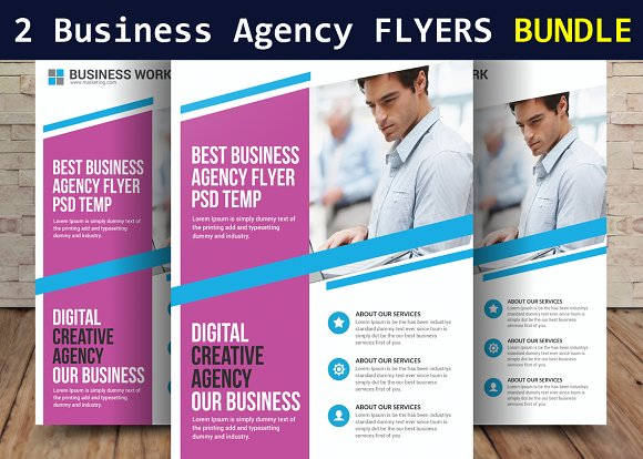 2 Corporate Business Agency Flyers