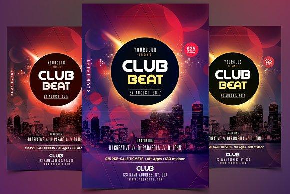 Club Beat PSD Flyer Template