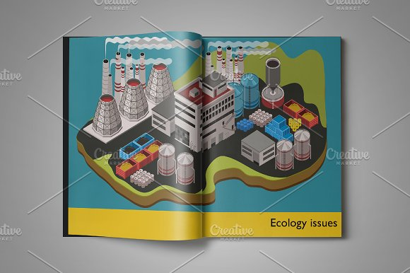 Industrial Factory Illustration Set
