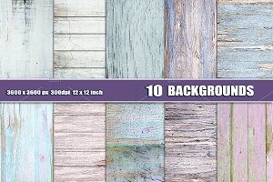 Pastel painted wood texture backdrop