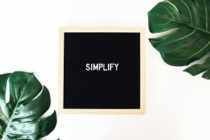 Simplify Letter Board & Monstera